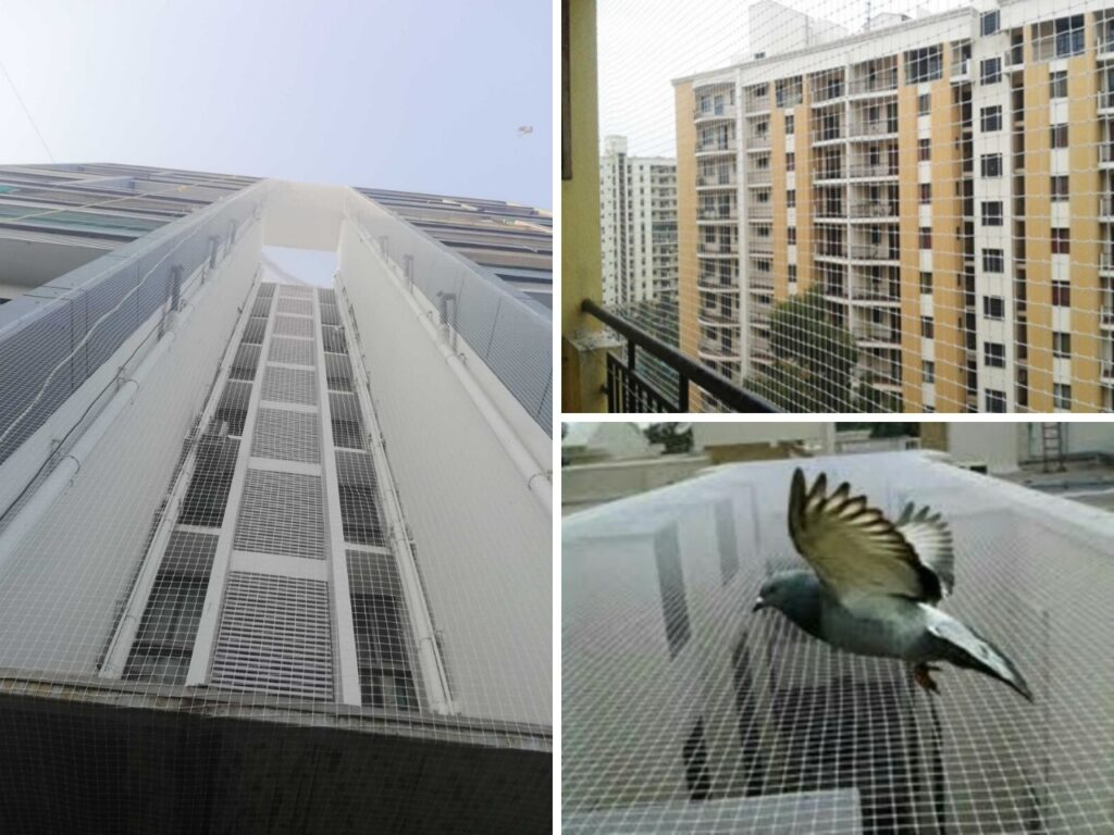 society bird netting and safety nets in pune, pcmc